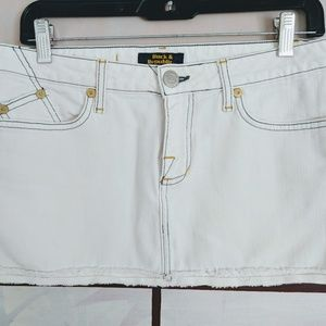 Rock & Republic White Mini Skirt, Size 28